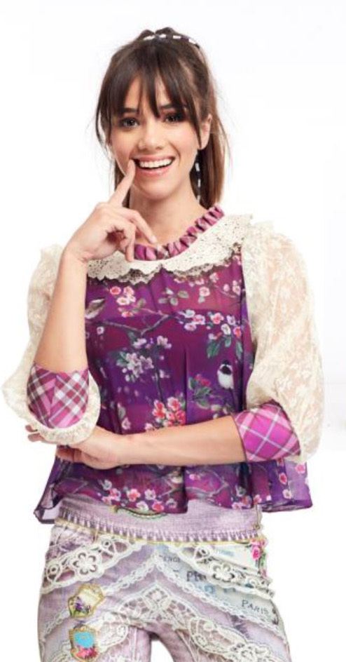 IPNG: Handkerchief Antique Jewels Ribboned Flared Illusion Top