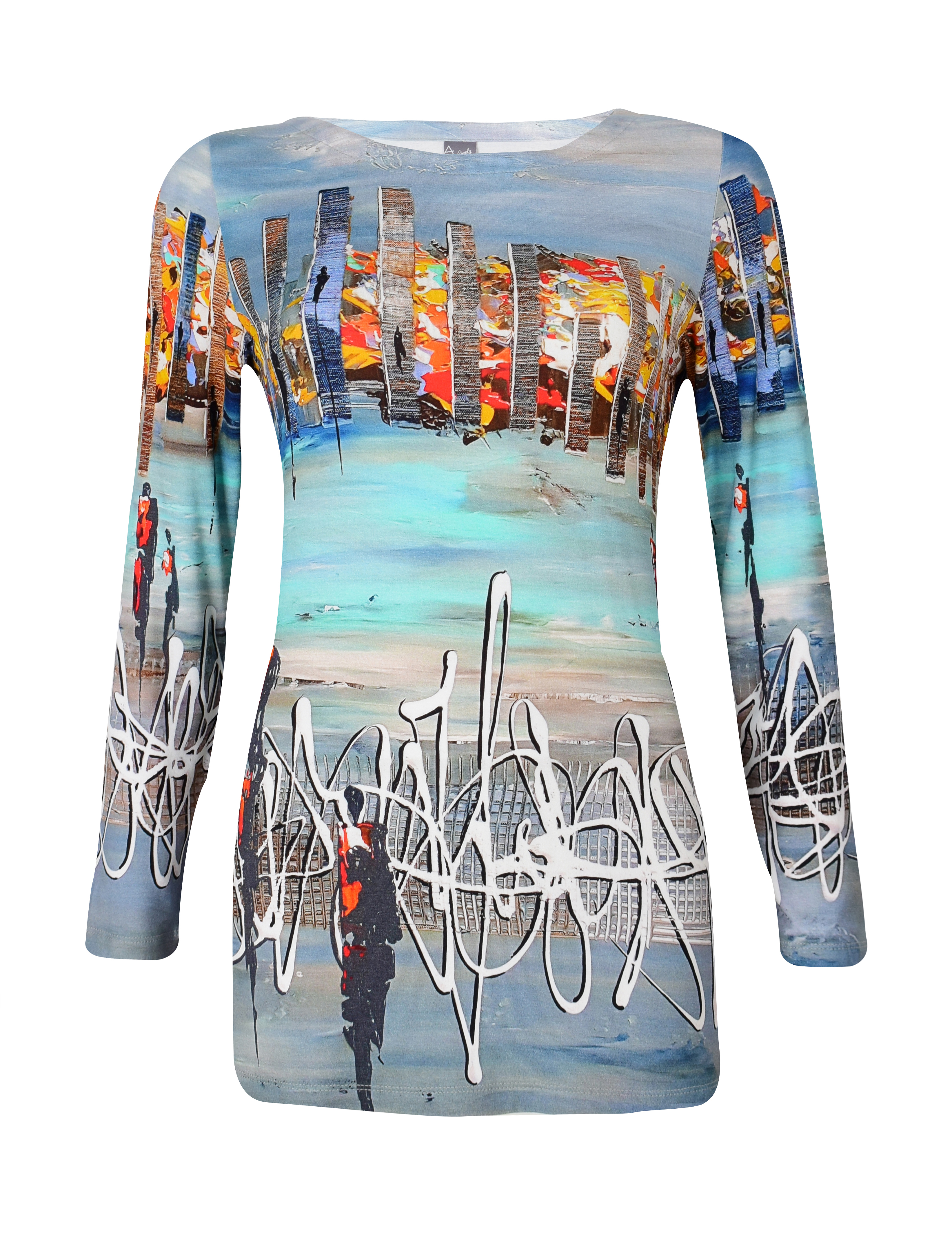 Simply Art Dolcezza: Indeed A Picture Perfect Beach Abstract Art Tunic (1 Left!) Dolcezza_SimplyArt_59671