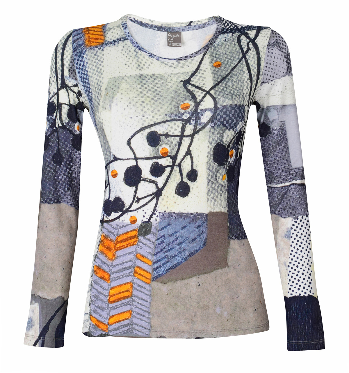 Simply Art Dolcezza: Incredibly Dandy Dragonfly Abstract Art Tunic (1 Left!) Dolcezza_SimplyArt_59690
