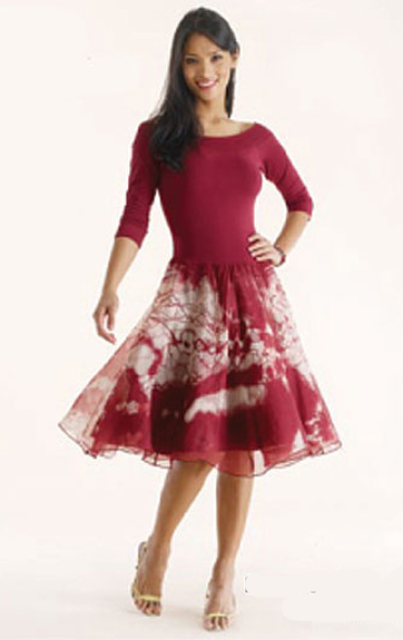 Luna Luz: Enchanting Silk Organza Tied & Dyed Short Dress (Few Colors Left, All Ship Immed!)