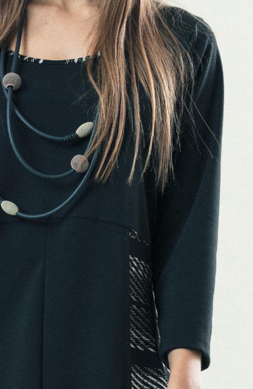 G!OZE France: Jacquard Pocket Bubble Hem Dress (2 Left!)