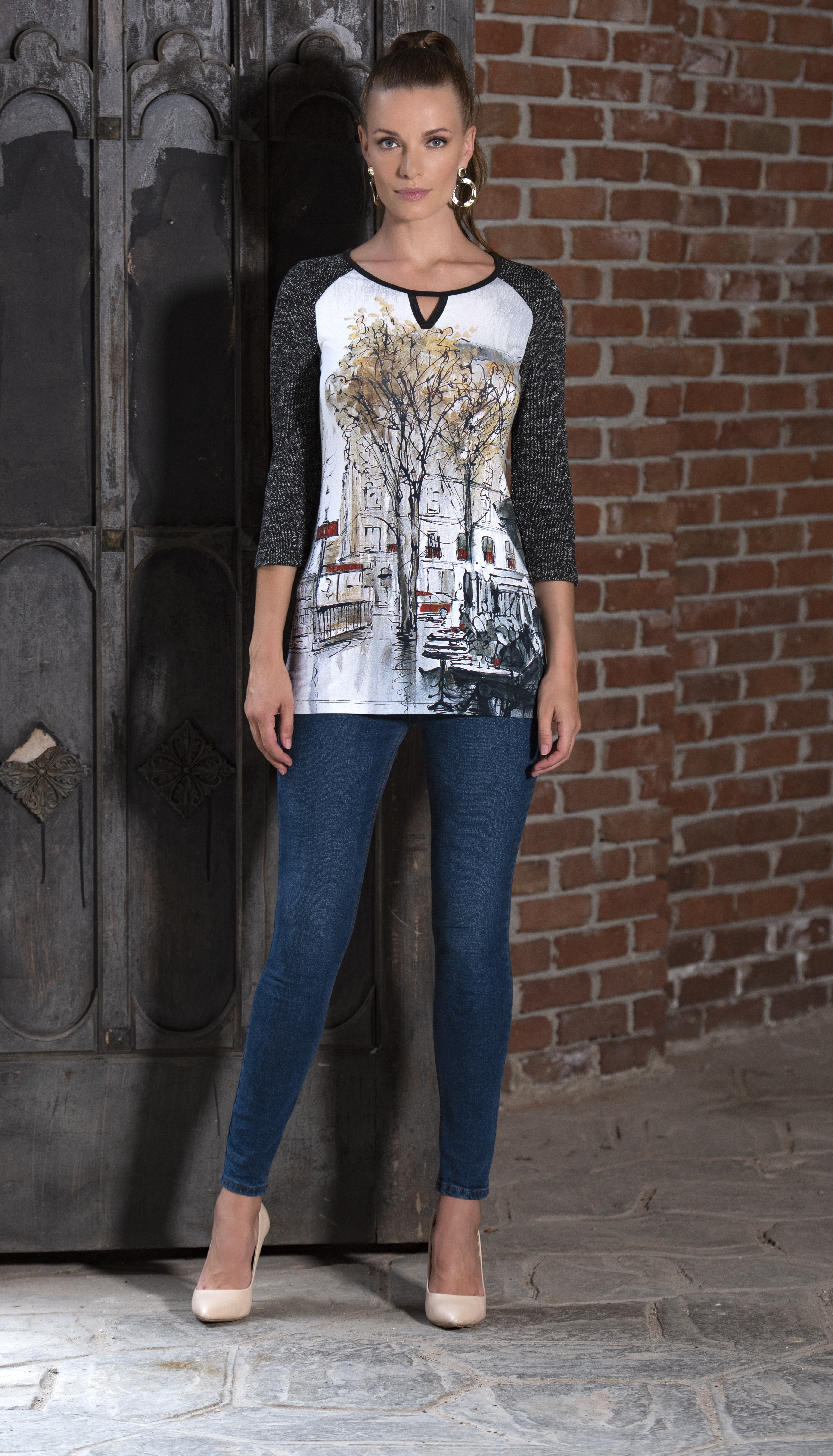 Simply Art Dolcezza: Splendid Parisian Life Keyhole Tunic (1 Left!) Dolcezza_SimplyArt_59701