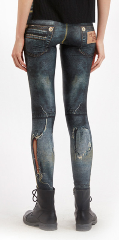 IPNG: Love Letter Ripped Jean Illusion Legging (Many Colors!)