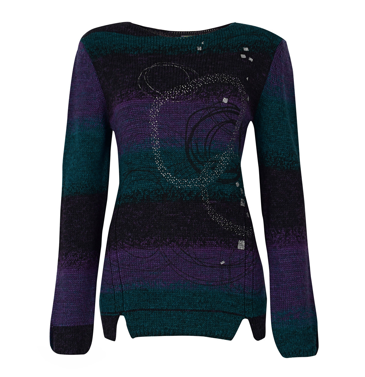 Dolcezza: Purple Star Cut Out Hem Sweater SOLD OUT