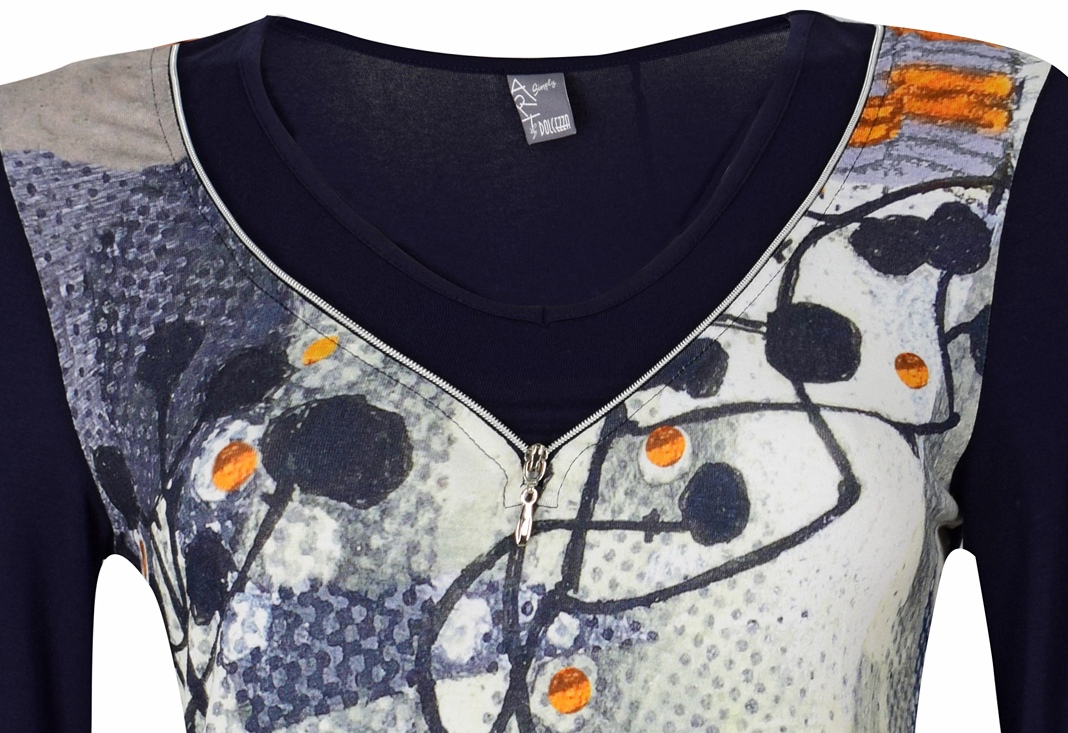 Simply Art Dolcezza: Incredibly Dandy Dragonfly Zip Abstract Art Tunic (1 Left!)