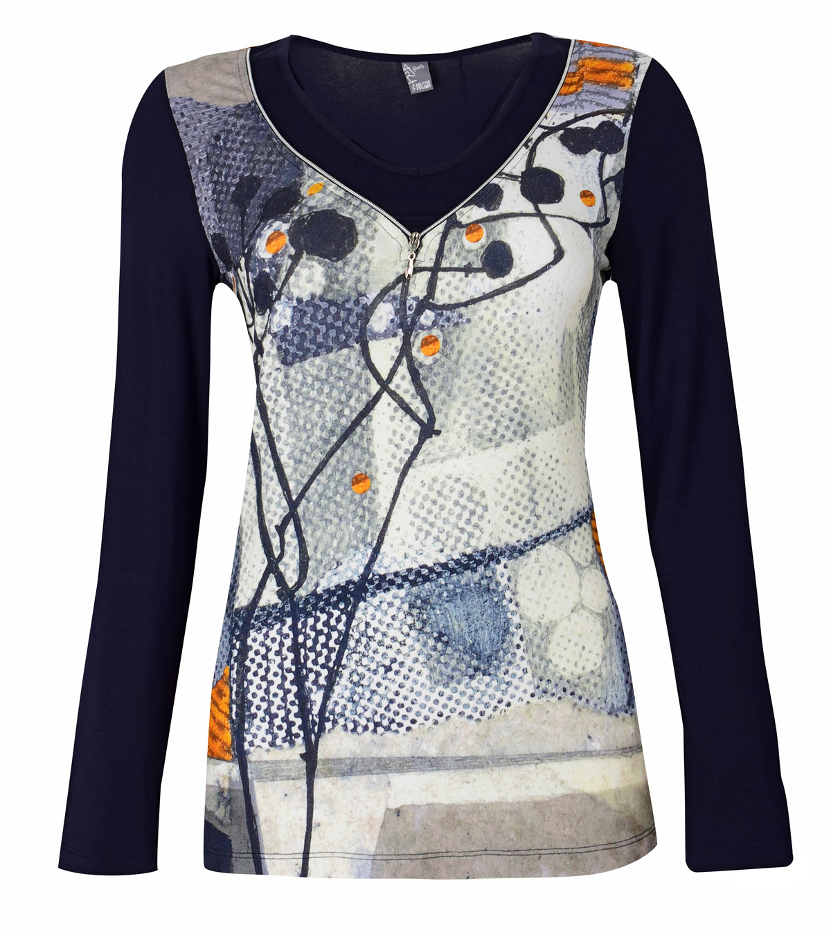 Simply Art Dolcezza: Incredibly Dandy Dragonfly Zip Abstract Art Tunic (1 Left!) Dolcezza_SimplyArt_59693_N
