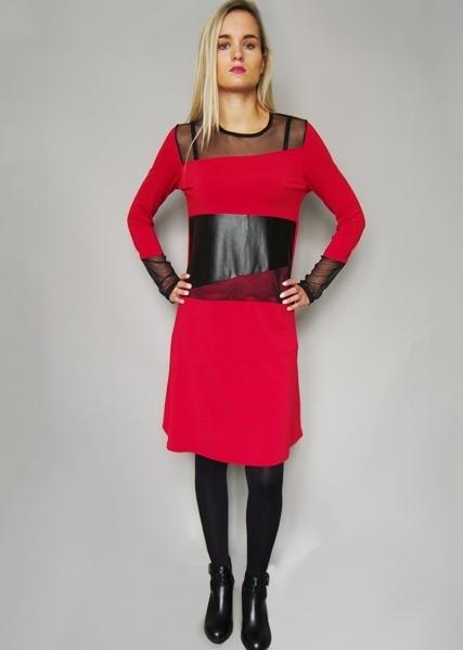 Double Jeu Paris: Liquid Leather & Lace Dress Low Quantity!