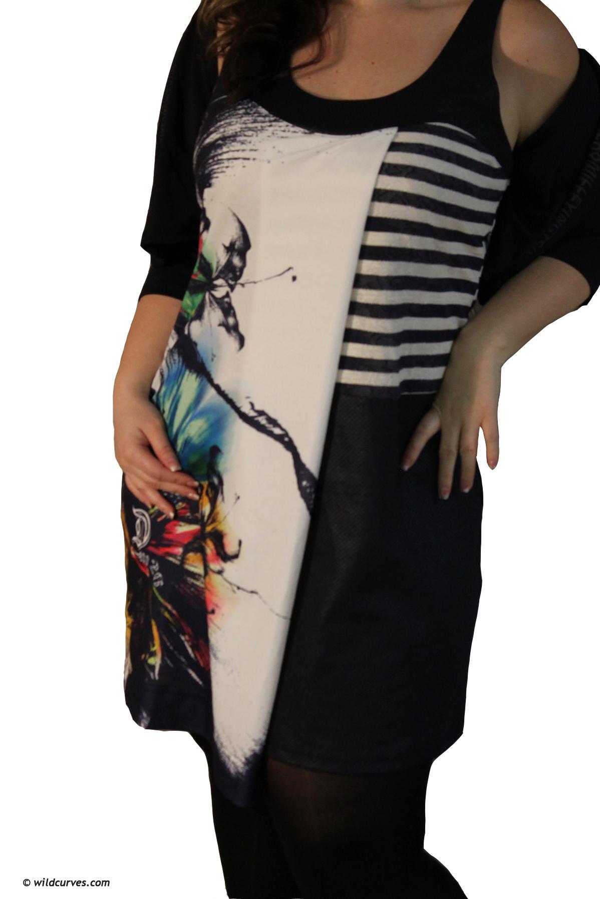 2026 Paris Cross Overlay Color Burst Dress (1 Left!)