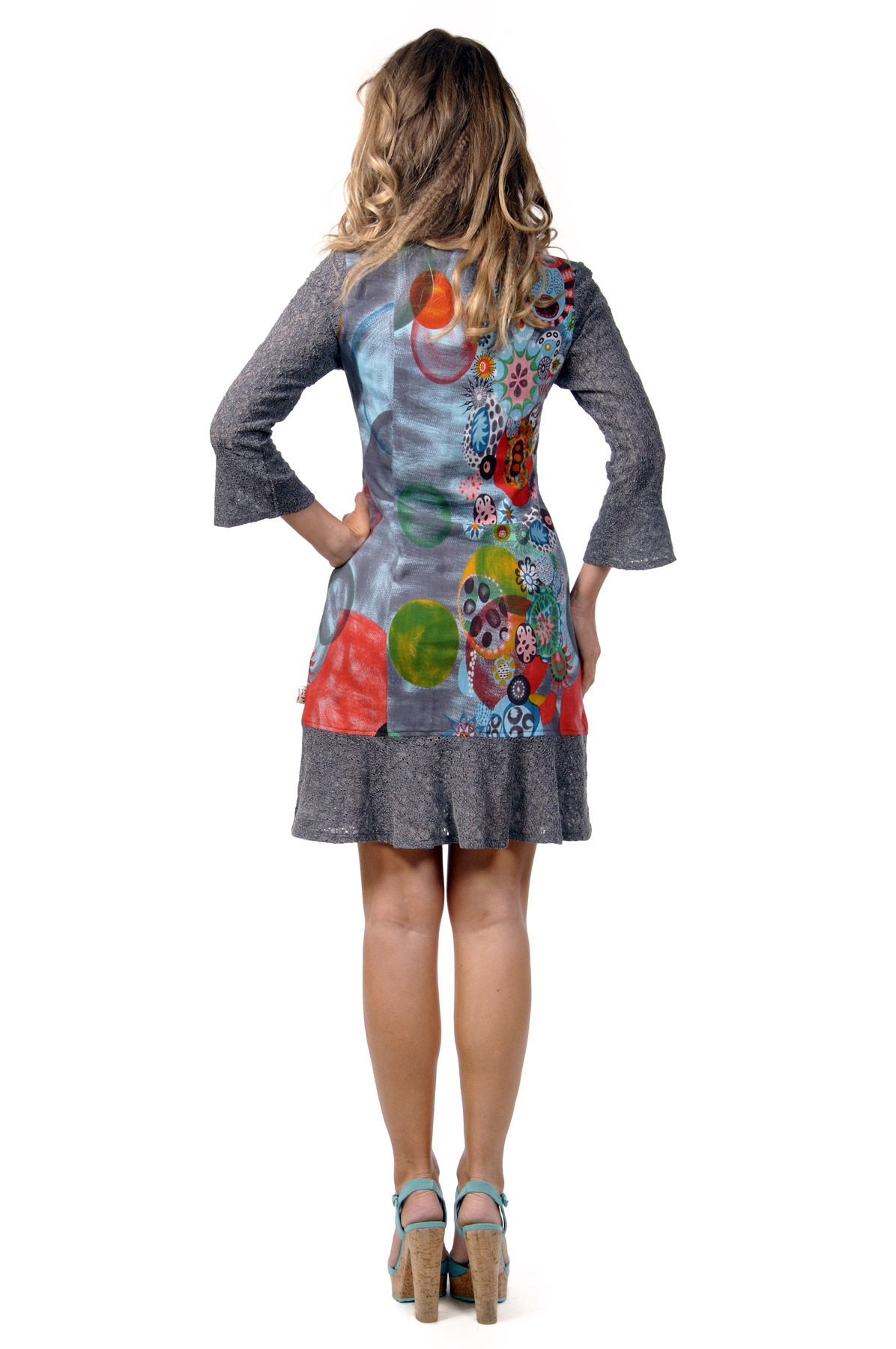 Savage Culture: Arabesque Flower Noa Dress with Tulip Sleeves