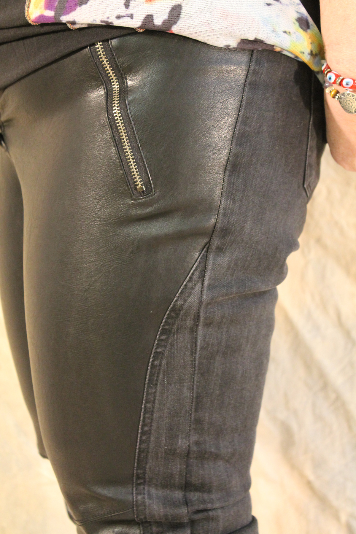 Lauren Vidal Luscious Leather Denim Pant