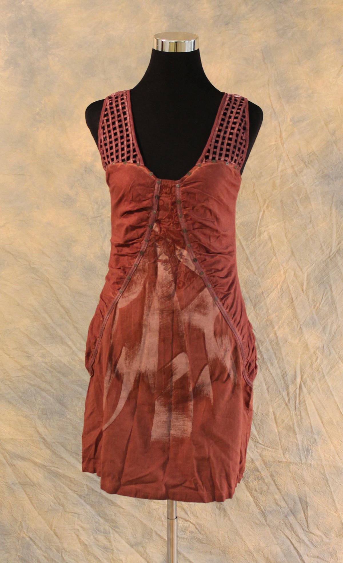 Angels Never Die Bordeaux Mini Dress