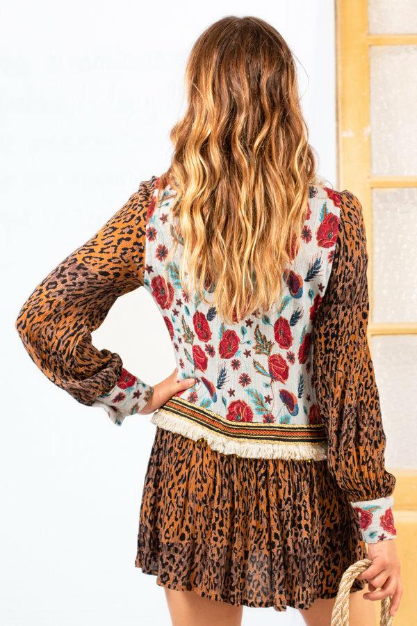Savage Culture: Leopard Rose Petal Dress