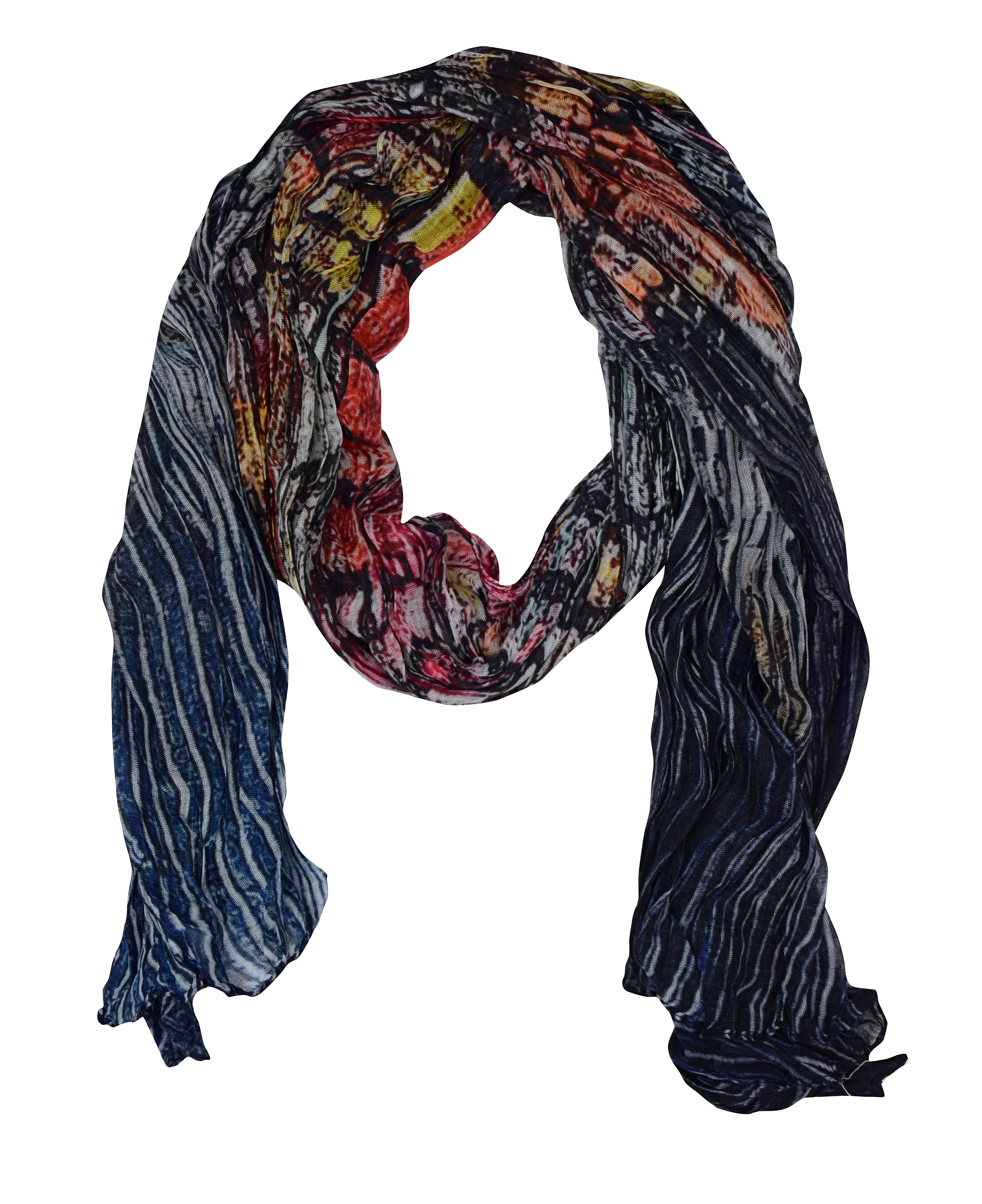 Simply Art Dolcezza:  Papillons Of The Night Abstract Art Scarf (1 Left!) Dolcezza_SimplyArt_59913
