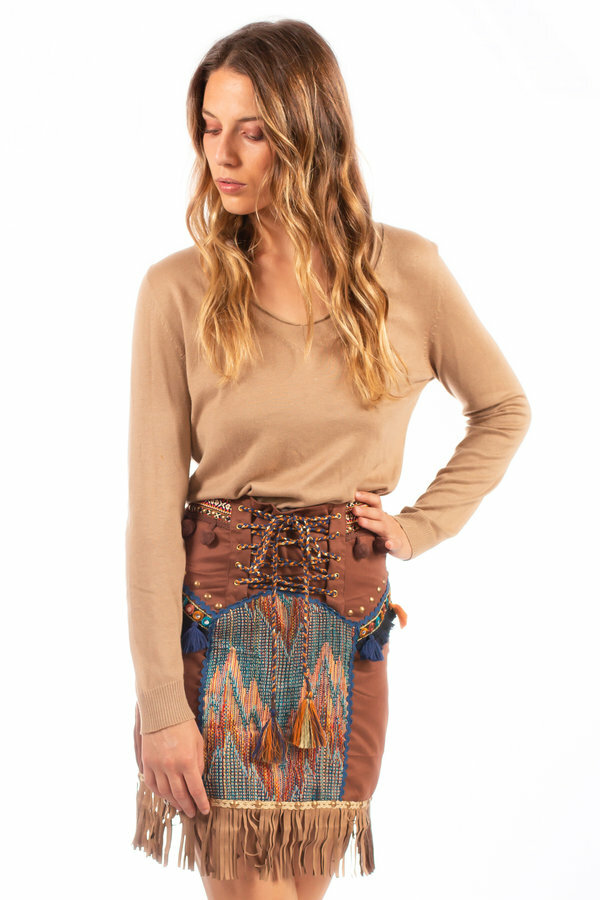 Savage Culture: Waist Tie Up Volcano Skirt SAVAGE_37101