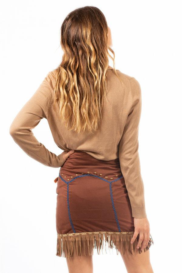 Savage Culture: Waist Tie Up Volcano Skirt