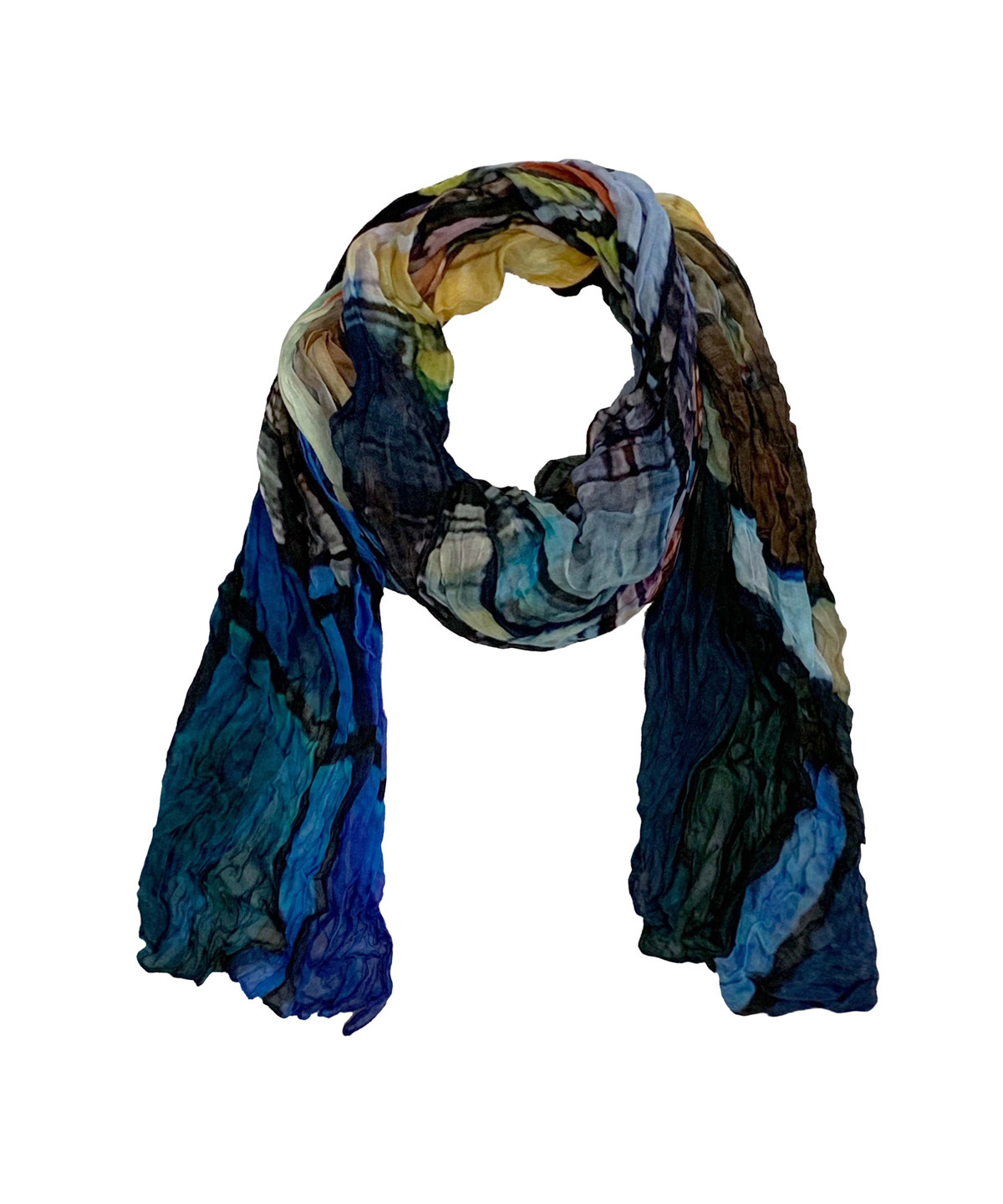Simply Art Dolcezza: Colors Of Ville La Nuit Abstract Art Scarf (2 Left!) Dolcezza_SimplyArt_59911_N