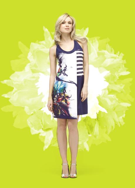 2026 Paris Cross Overlay Color Burst Dress (1 Left!) 2026_Richone_dress