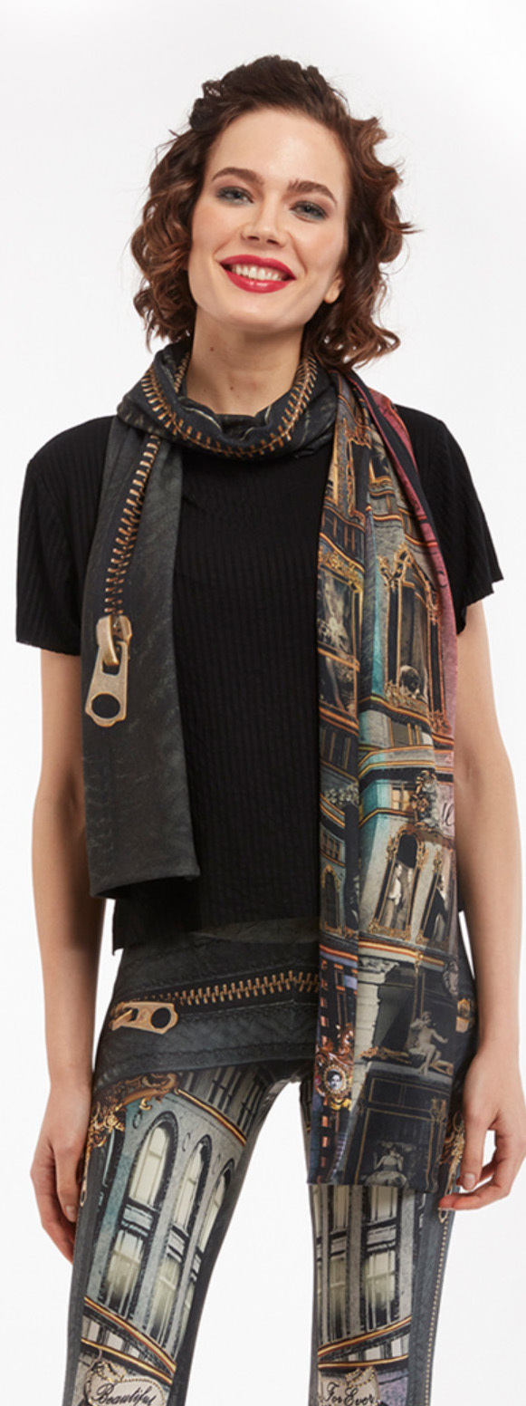 IPNG: Biker Chic Let It Snow Illusion Scarf