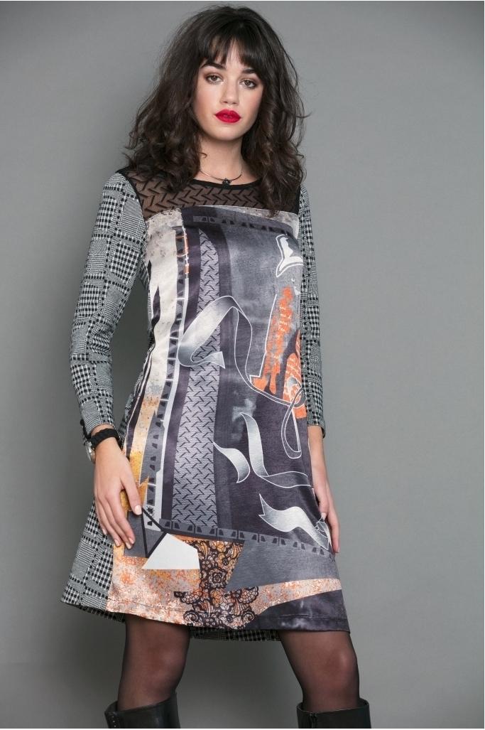 Maloka: Jazzy Girl Printed Check Sweater Dress/Tunic (2 Left!) MK_JESSIE