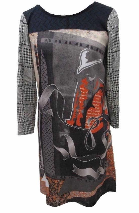 Maloka: Jazzy Girl Printed Check Sweater Dress/Tunic (2 Left!)