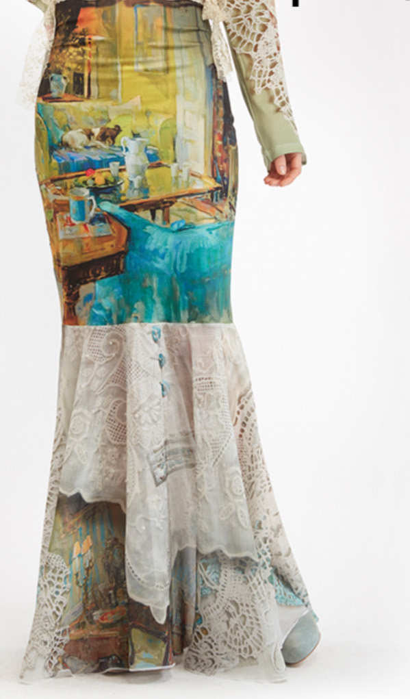 IPNG: Emerald Living Room Illusion Poetic Layers Mermaid Skirt