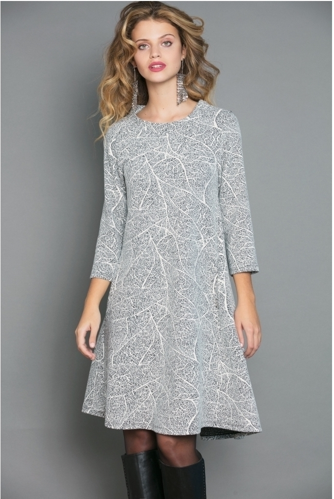Maloka: Fit & Flow Romantic Lightstorm Jacquard Dress (More Colors!) MK_FURLAN_N
