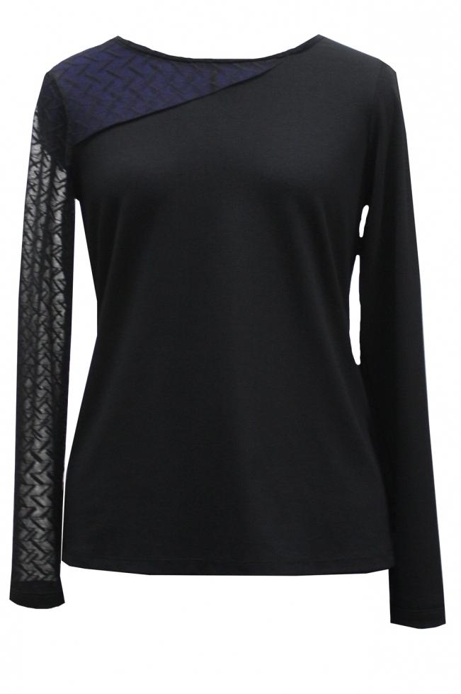 Maloka: Elegant Asymmetrical Sleeve Top (More Colors!)