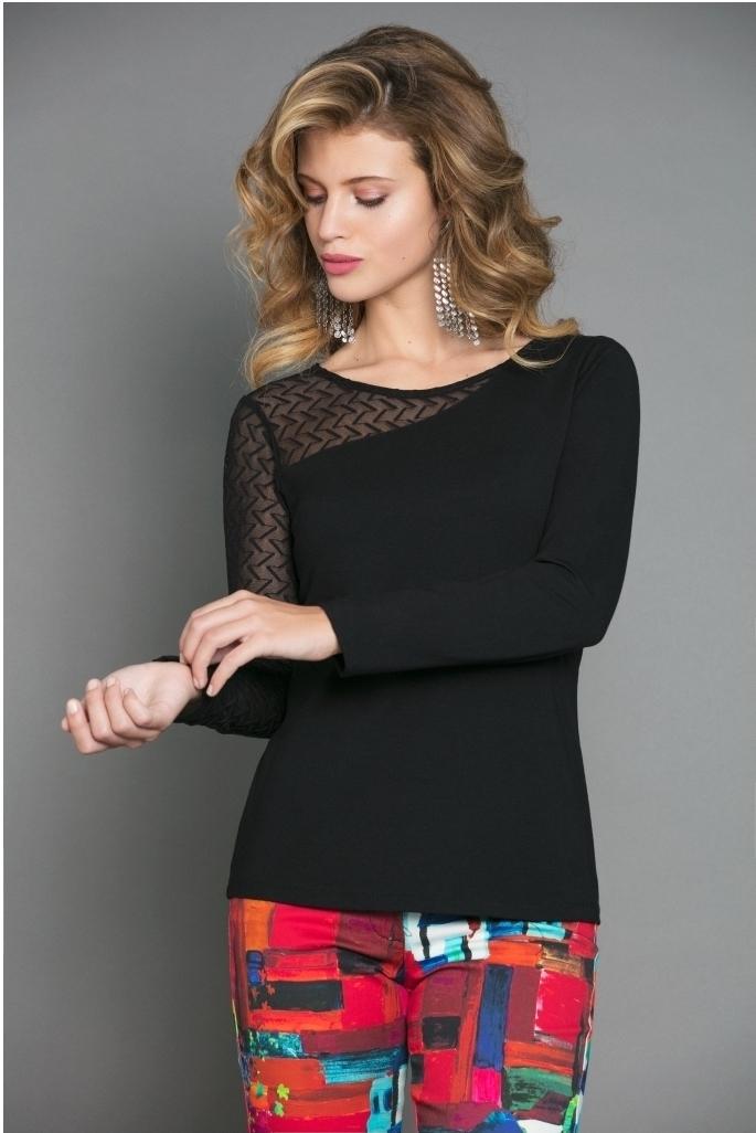 Maloka: Elegant Asymmetrical Sleeve Top (More Colors!) MK_JOIA