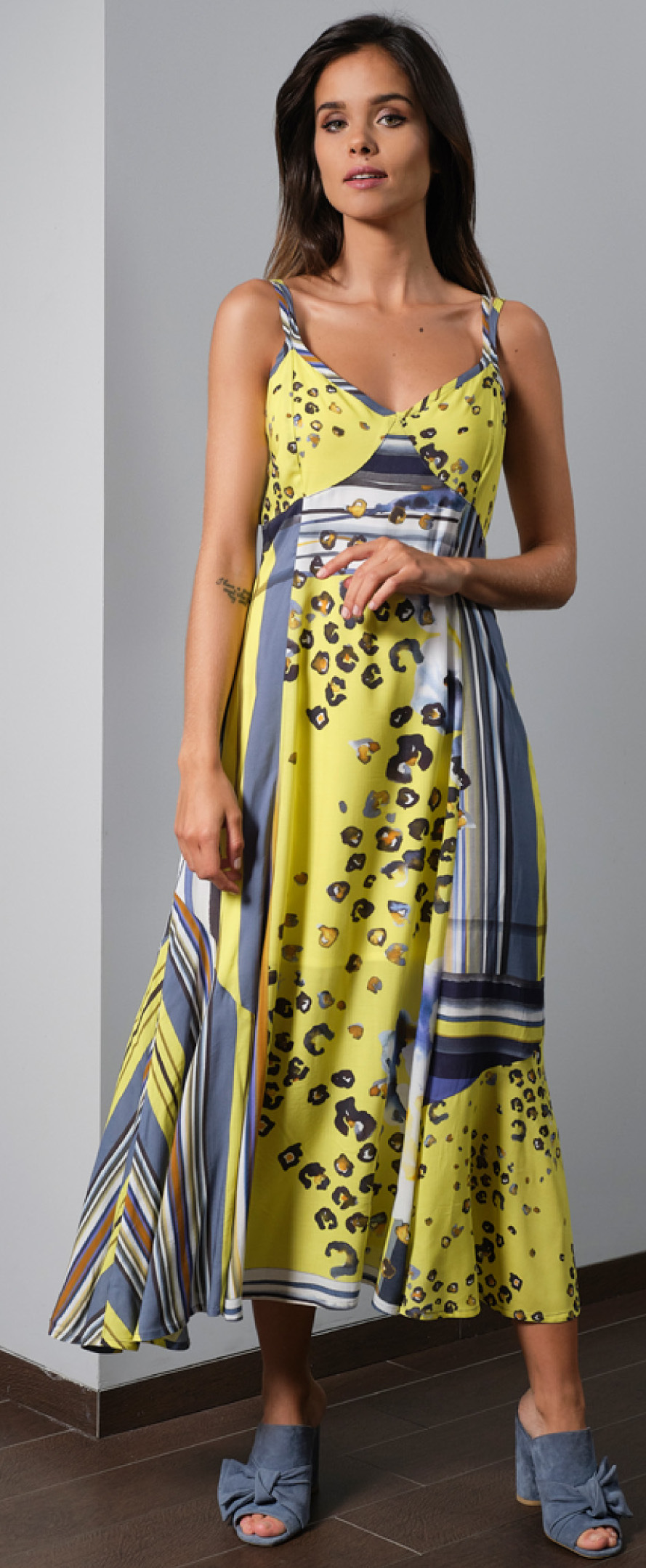 Paul Brial Wild Lily Under The Sun Sweetheart Maxi Dress PB_FLEUR_NEW