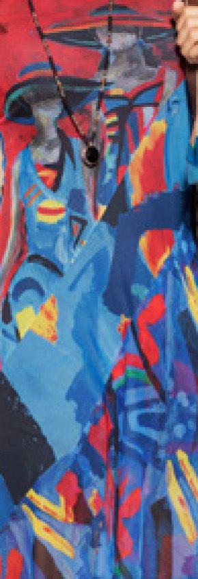 Maloka: Colors Of Picasso's Gypsy Beauty Abstract Art Midi Sundress
