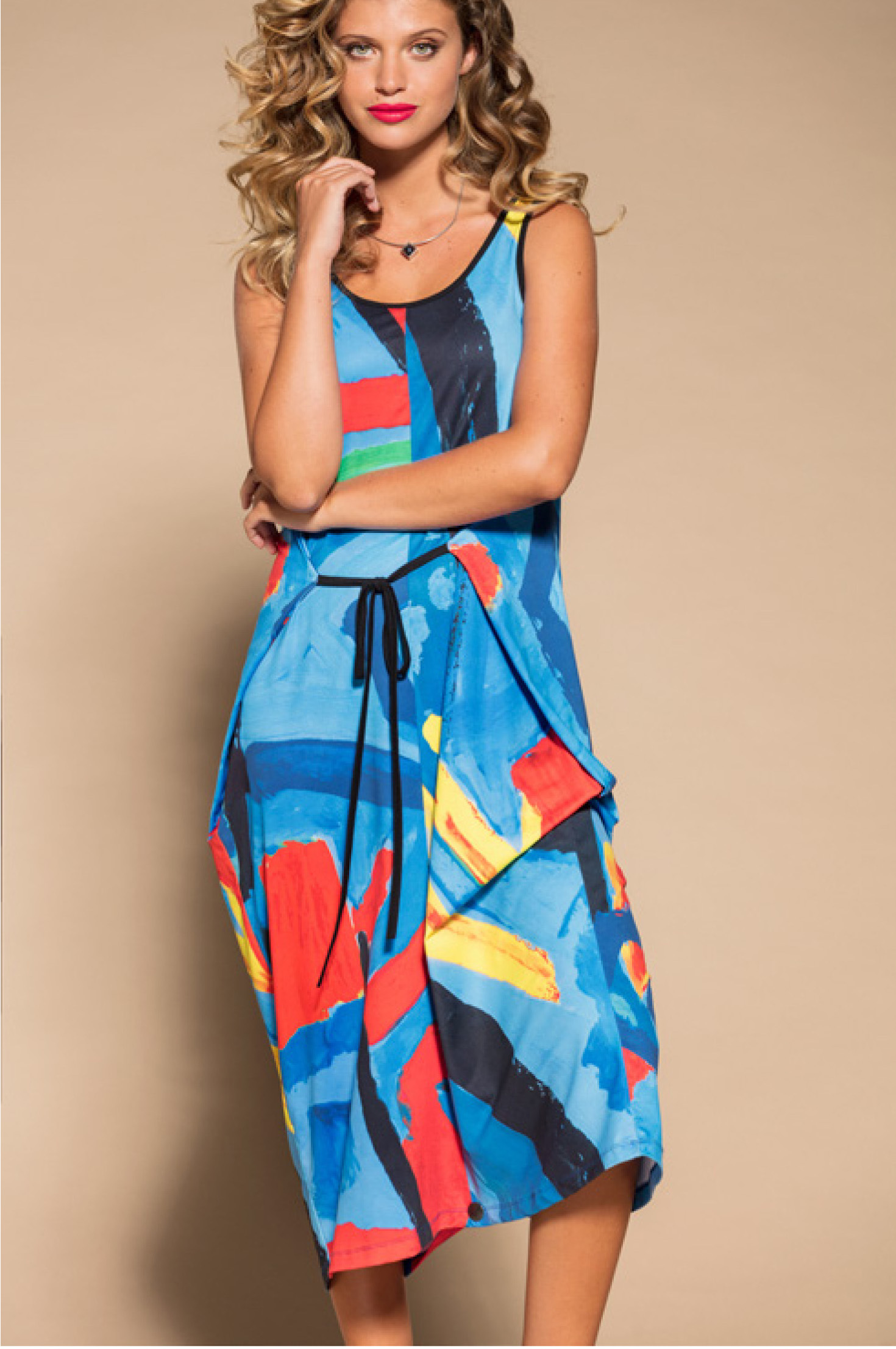 Maloka: Colors Of Picasso's Gypsy Beauty Abstract Art Jumpsuit/Sundress MK_GAUTHIER