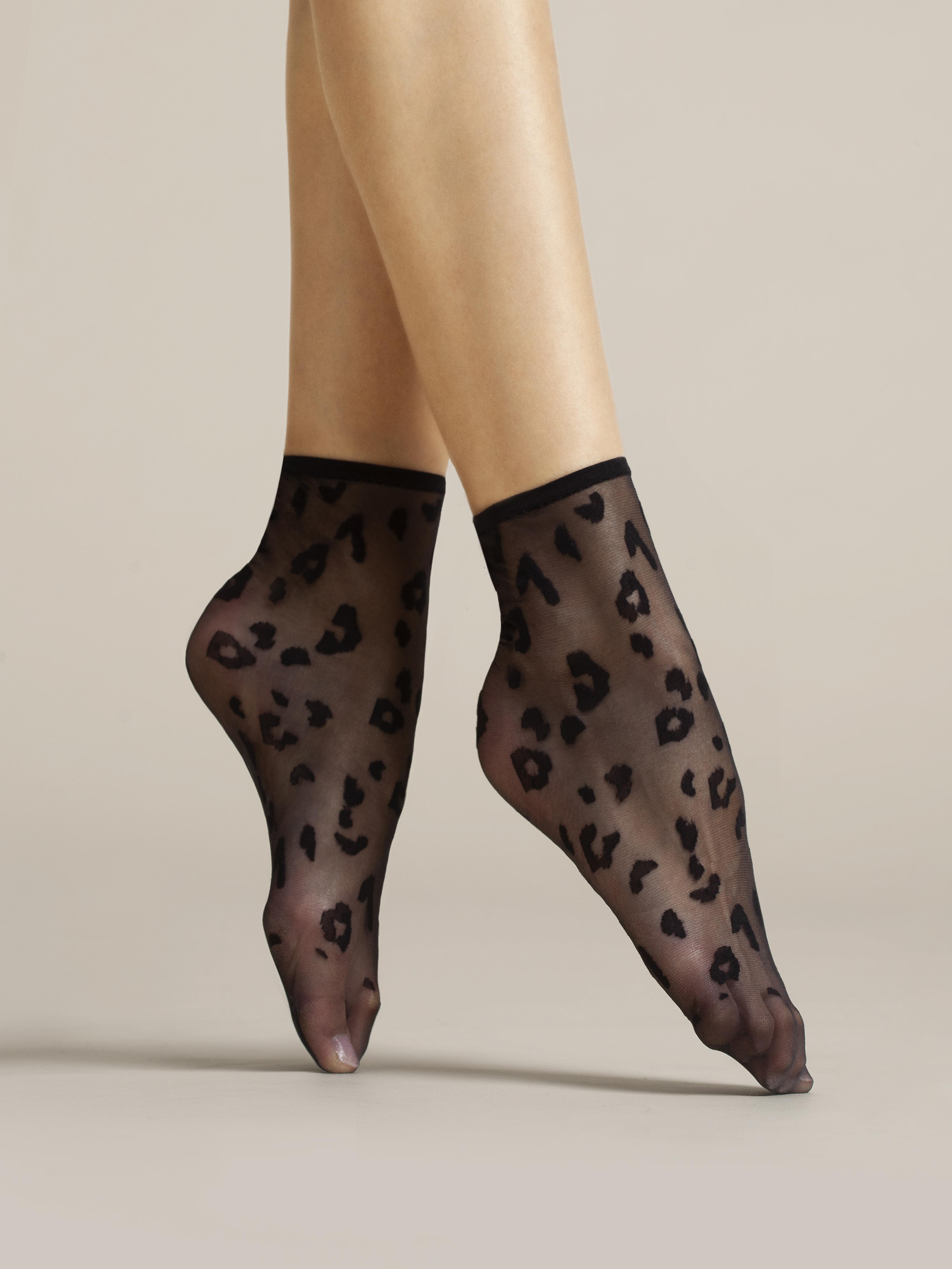 Fiore: Leopard Spots Nylon Socks FIO_DORIA