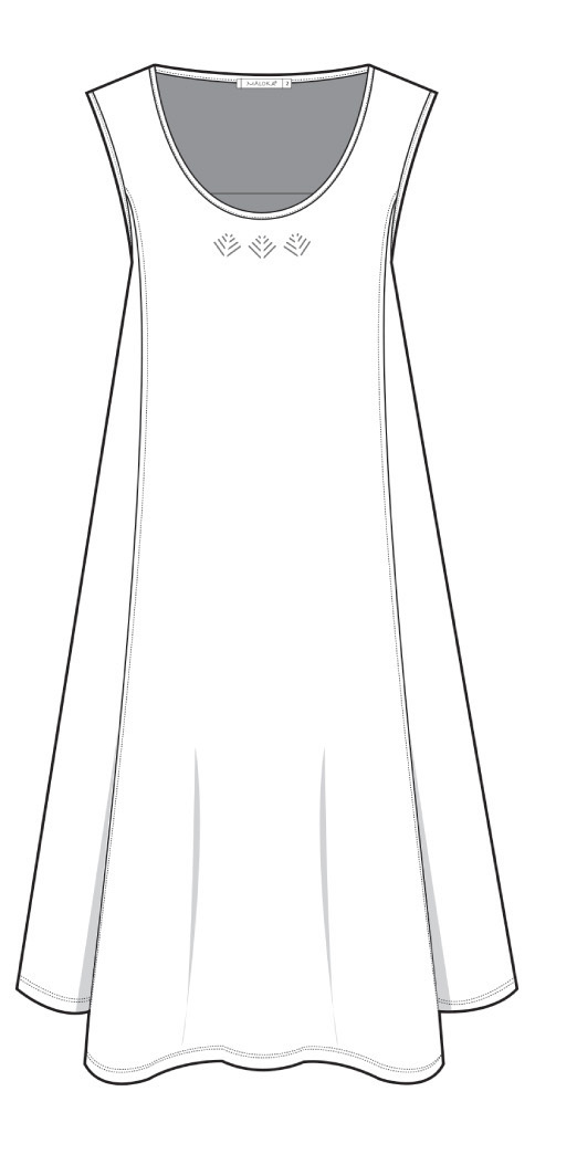 Maloka: Sleek Swirl Decolletage Flare Tunic (Many Colors!)