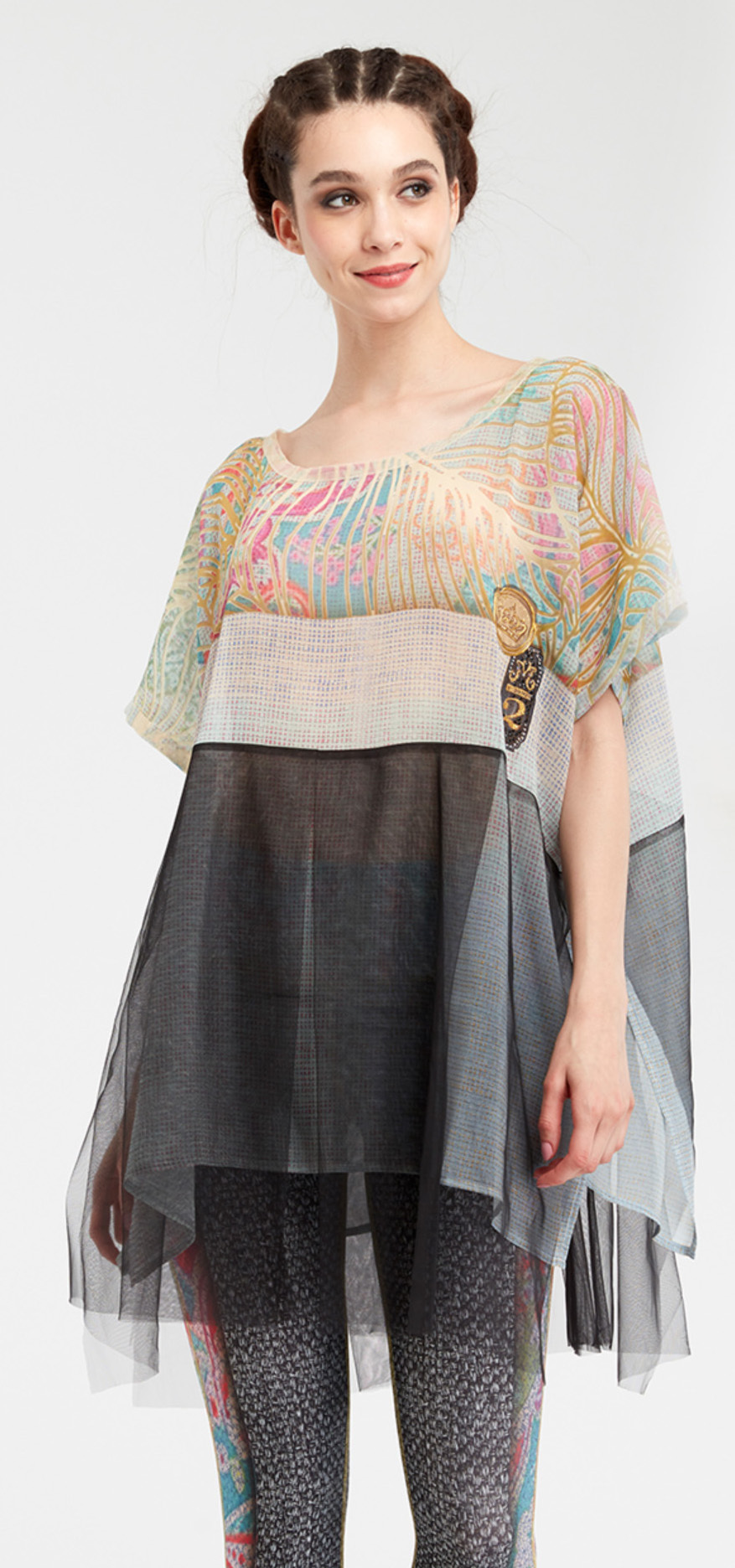 IPNG: Royal Summer Camp Color Contrast Illusion Tunic IPNG_RSSBTI-112