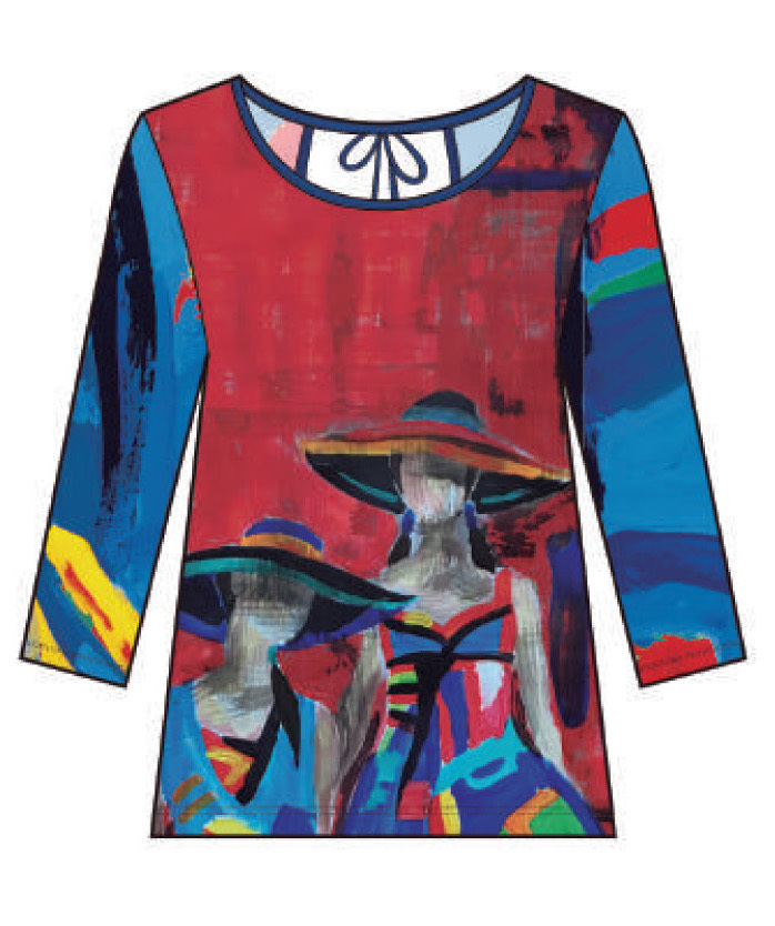 Maloka: Colors Of Picasso's Gypsy Beauty Abstract Art Tunic