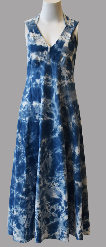 Luna Luz: Cross Over Botanical Bodice Tie Dye Long Dress (More Colors, Some Ship Immed!)