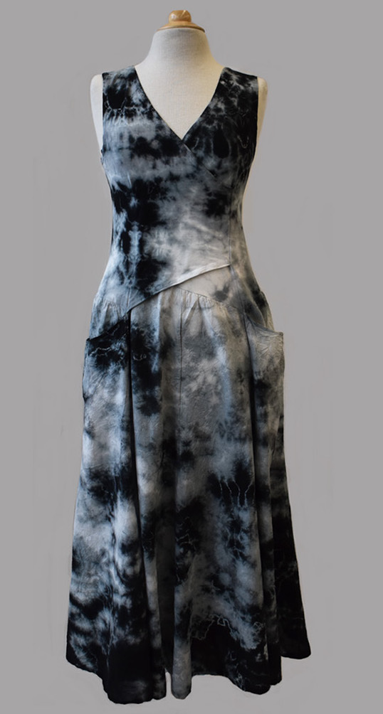 Luna Luz: Cross Over Botanical Bodice Tie Dye Long Dress (More Colors, Some Ship Immed!) LL_516_BOTANICAL