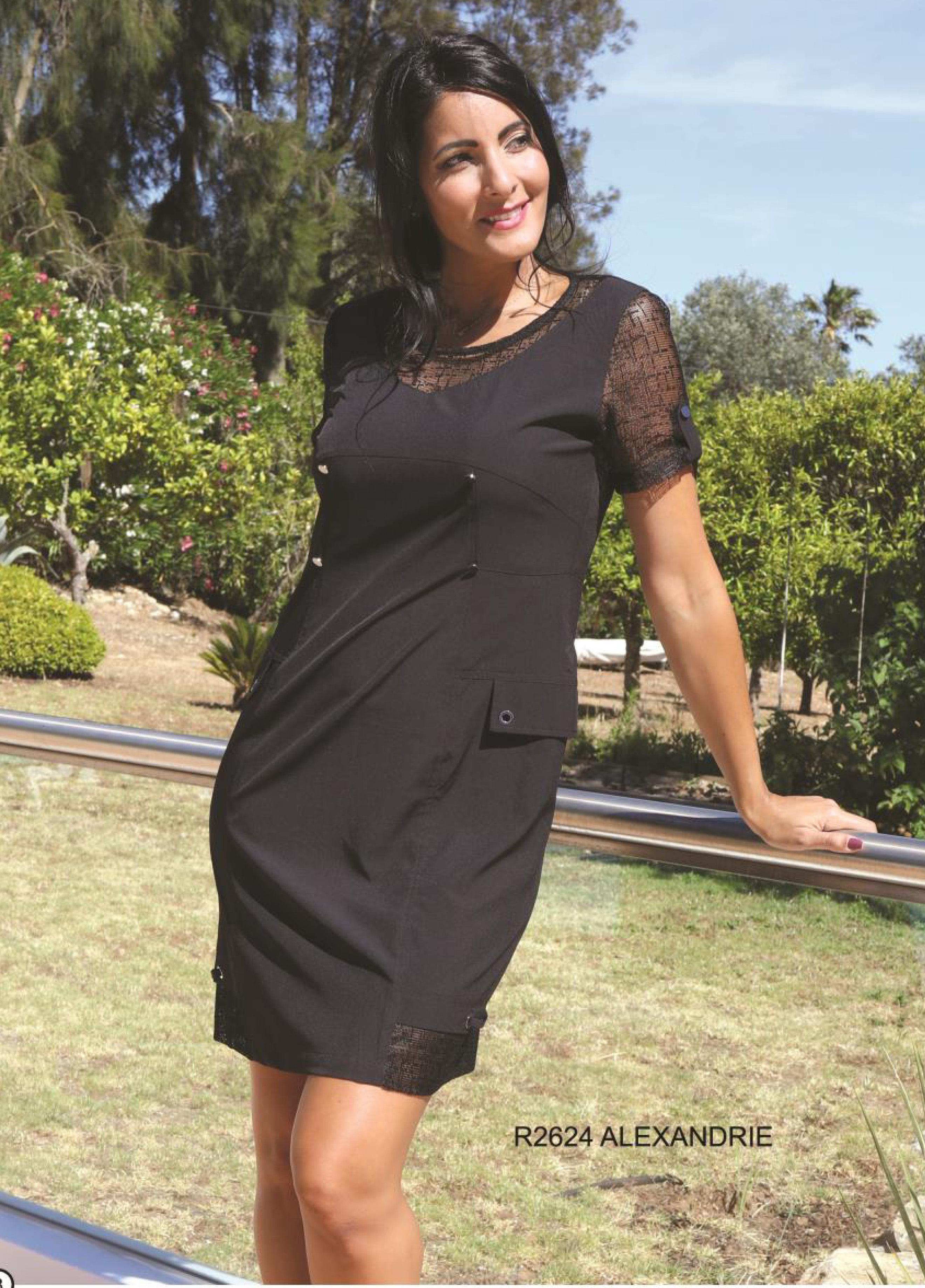 S'Quise Paris: Little Black Pocket Dress SQ_2624
