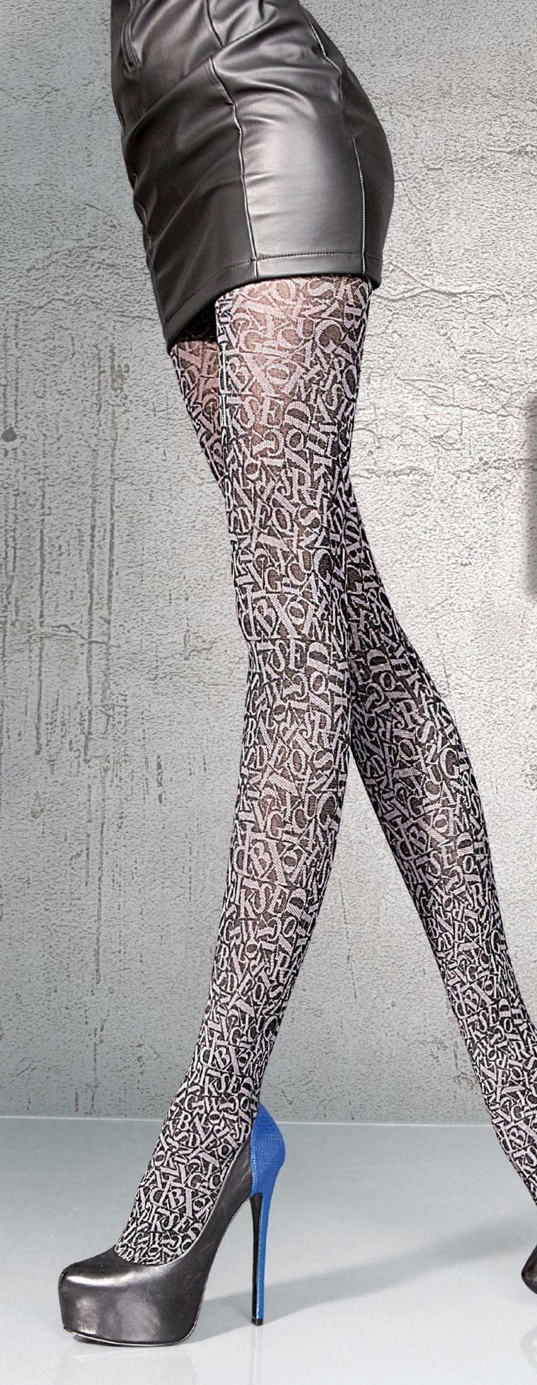 Fiore: Stiletto Thighs Patterned Tights FIO_Danisa