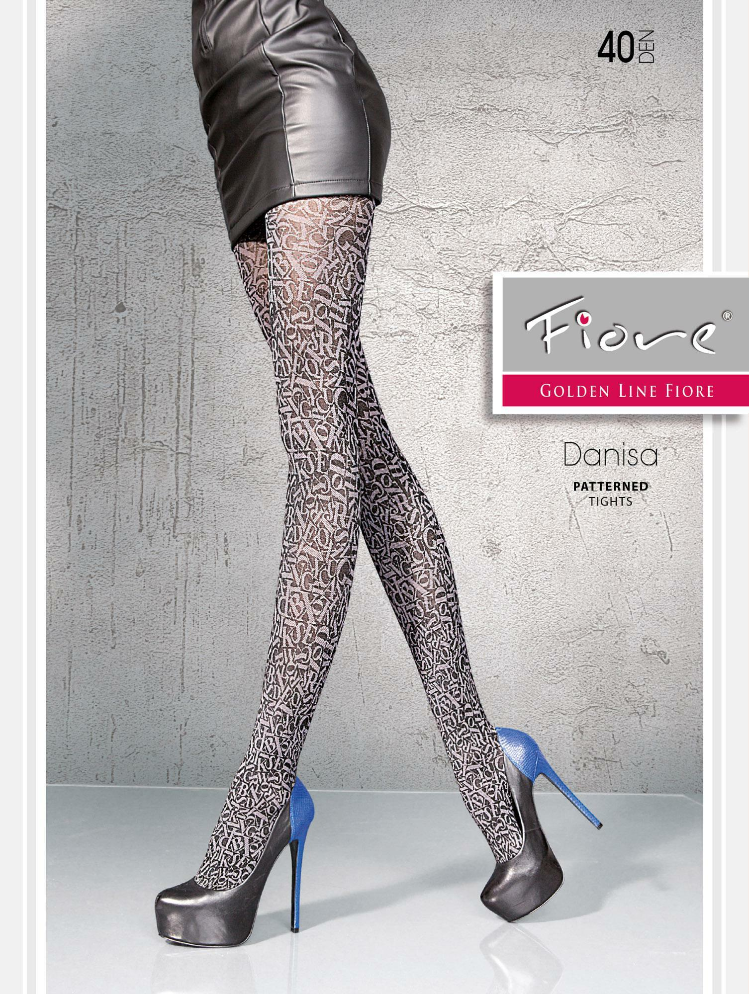 Fiore: Stiletto Thighs Patterned Tights