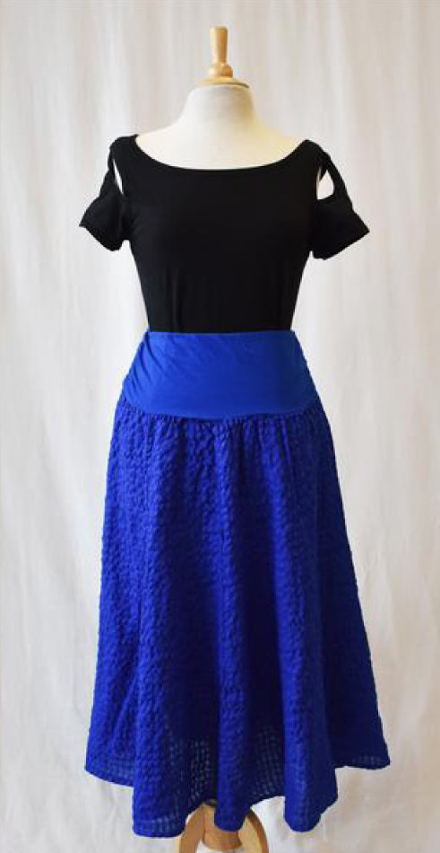Luna Luz: Tied & Dyed Seersucker Cotton Skirt (Many Colors!)