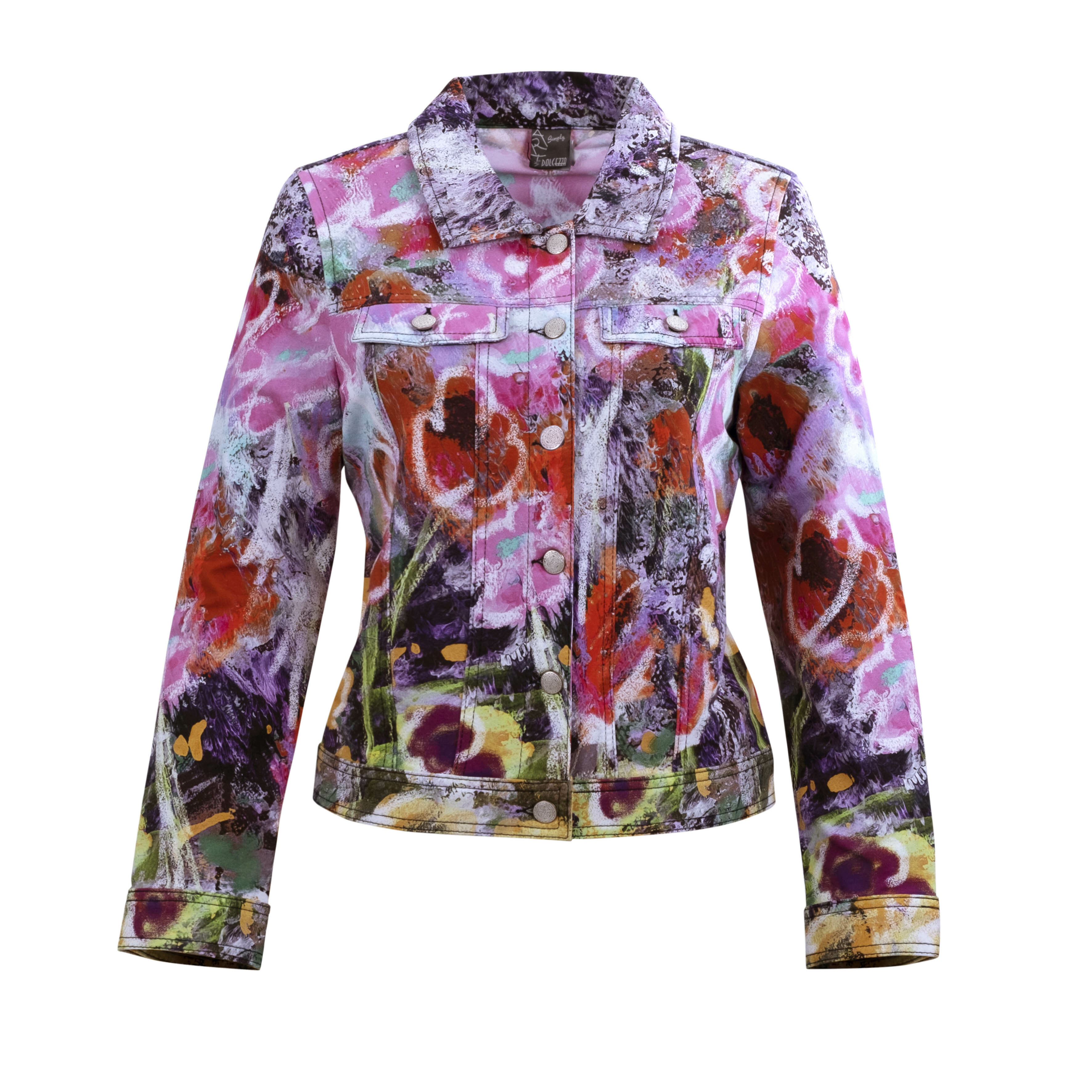Simply Art Dolcezza: Wildest Flowers Abstract Art Denim Jacket DOLCEZZA_SIMPLYART_20610