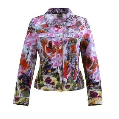 Simply Art Dolcezza Wildest Flowers Abstract Art Denim Jacket