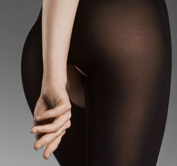 Fiore: I Have A Sexy Secret Open Gusset Opaque Tights