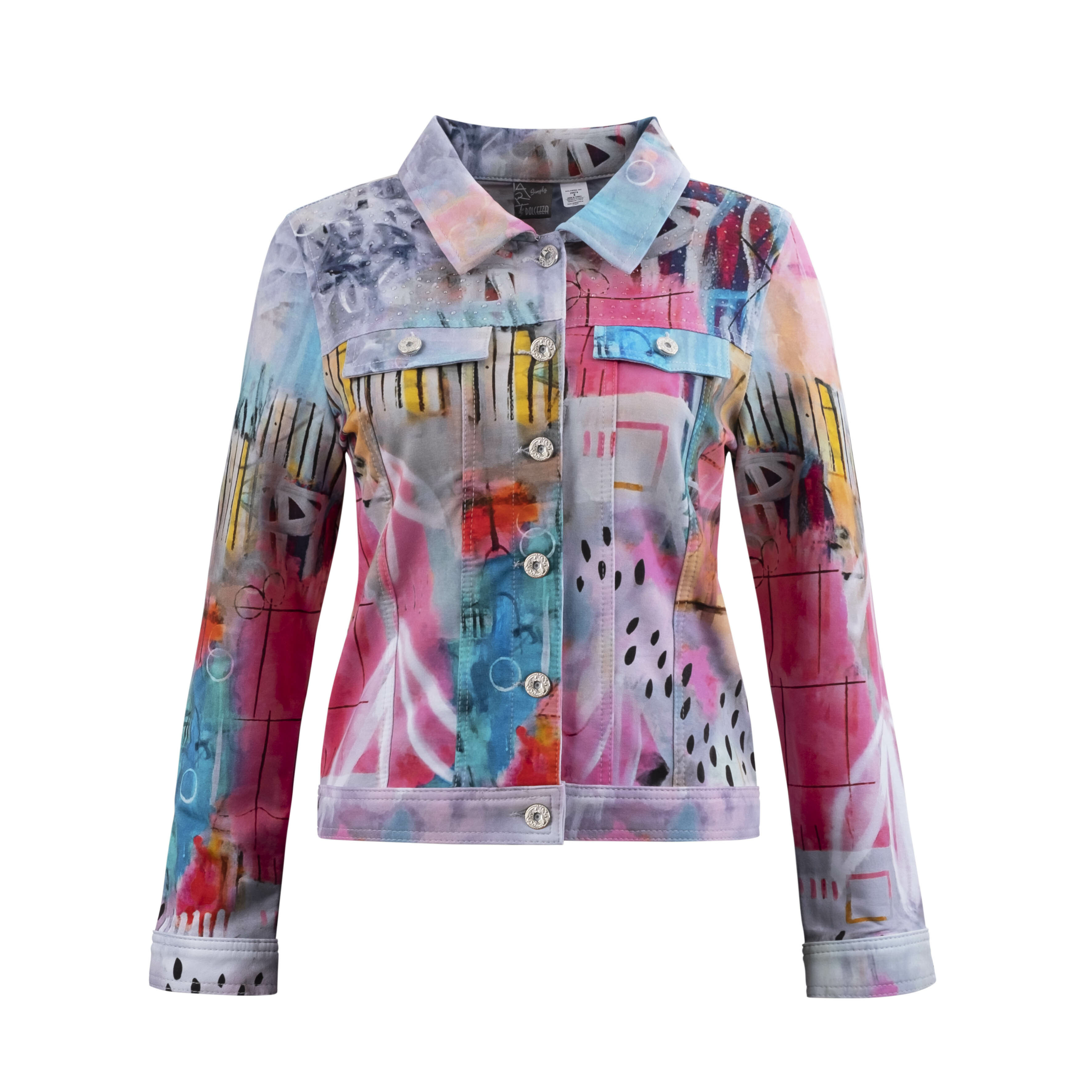 Simply Art Dolcezza: Receive The Best Things In Life Abstract Art Denim Jacket DOLCEZZA_SIMPLYART_20679