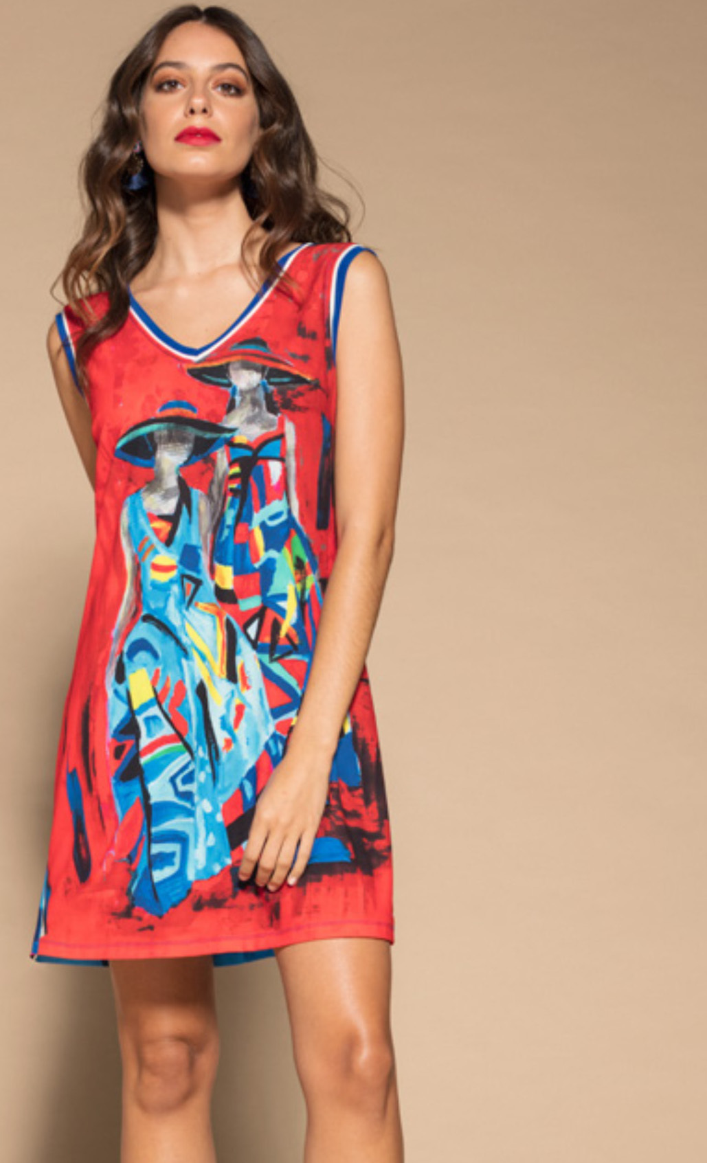 Maloka: Colors Of Picasso's Gypsy Beauty Abstract Art Tunic/Dress