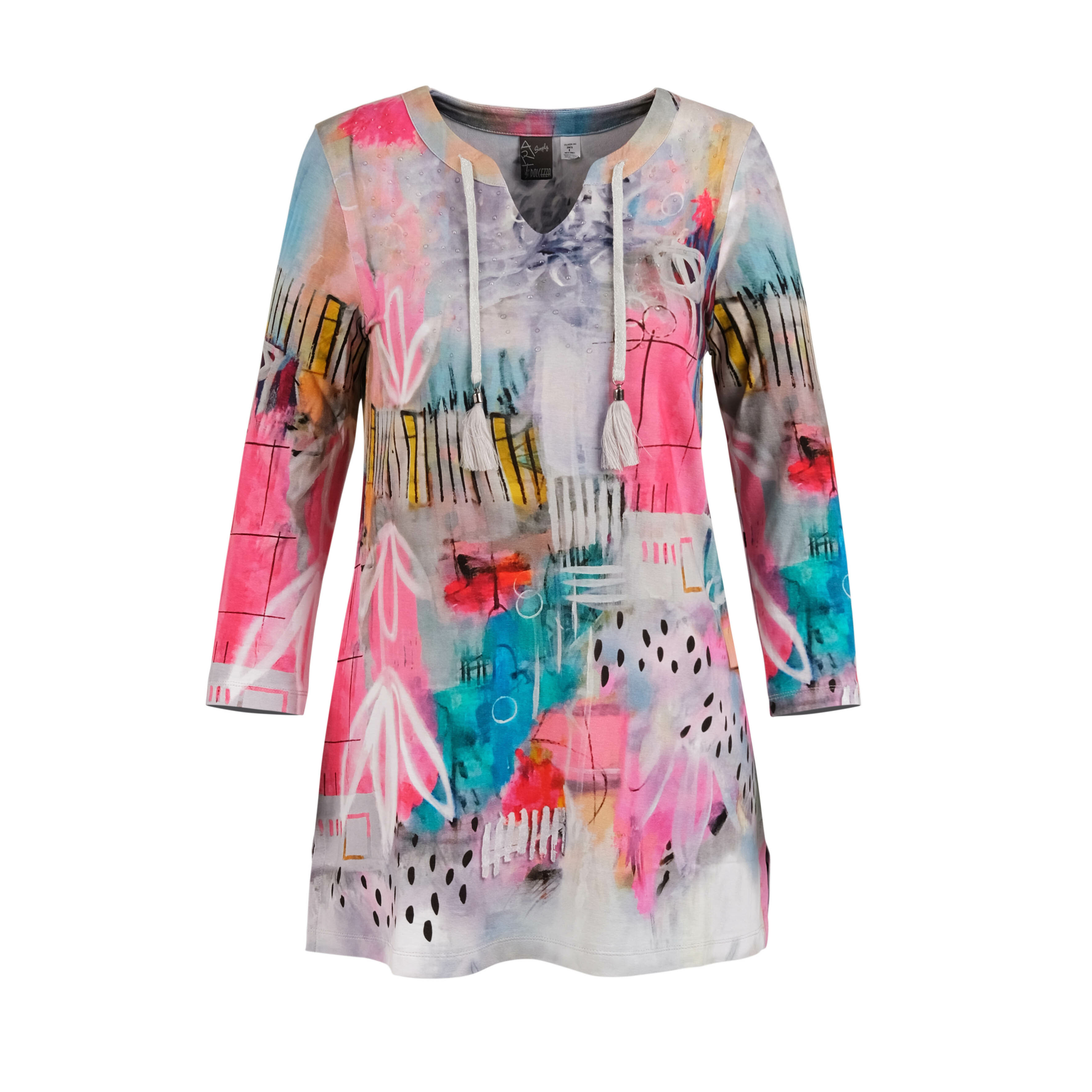 Simply Art Dolcezza: Receive The Best Things In Life Abstract Art Tunic