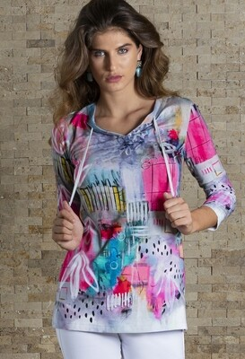 Simply Art Dolcezza Receive The Best Things In Life Abstract Art Knit Tunic