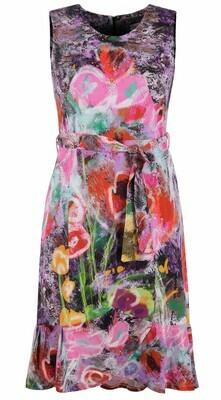 Simply Art Dolcezza Wildest Flowers Tulip Hem Abstract Art Dress