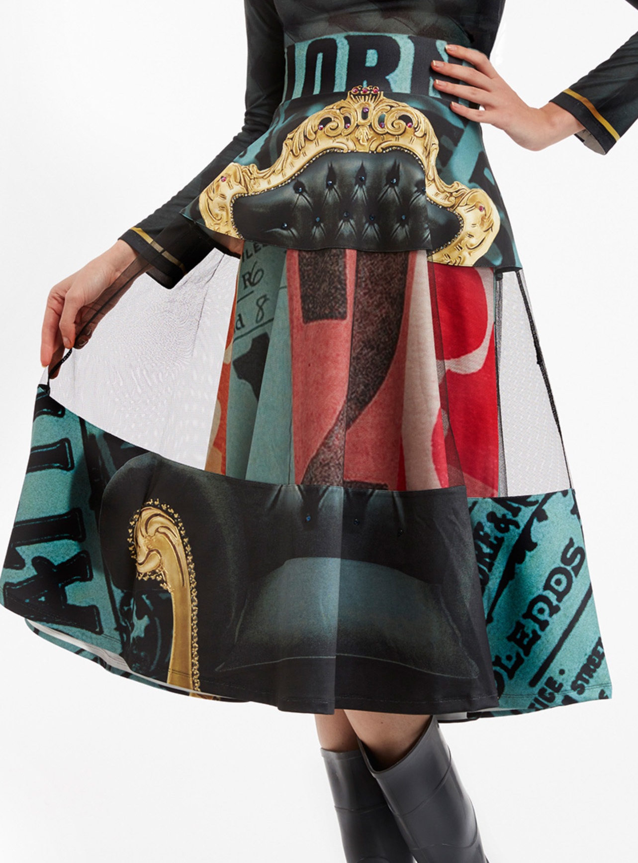IPNG: Black Emerald Furniture Gossips Illusion Skirt (Some Ship Immed!) IPNG_FGSKH-101